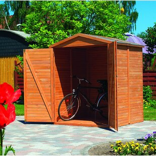 Bergamo 5.7 Ft. W X 5.4 Ft. D Tongue And Groove Apex Wooden Bike Shed By Sol 72 Outdoor
