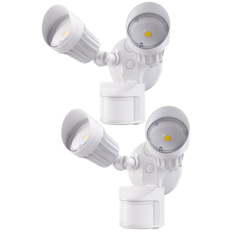 Leonlite Ts6023 20 Watt Led Dusk To Dawn Outdoor Security Flood Light With Motion Sensor Pack Of 2 Reviews Wayfair