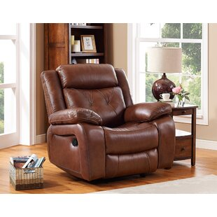 Casto Leather Manual Recliner