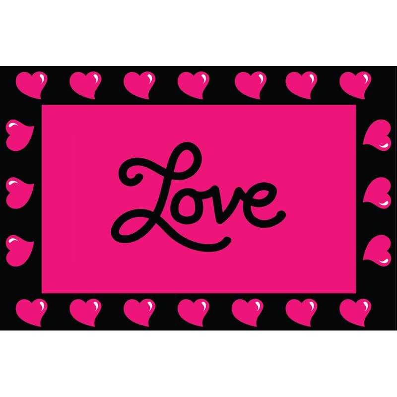 The Holiday Aisle Clinton Valentines Day Decoration Black Pink Area Rug Wayfair Ca