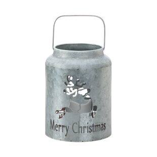 The Holiday Aisle Reindeer LED Galvanized Metal Lantern