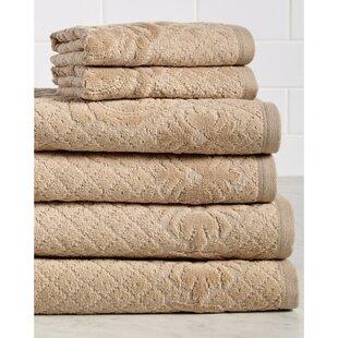 Nicolette 6 Piece 100% Cotton Towel Set