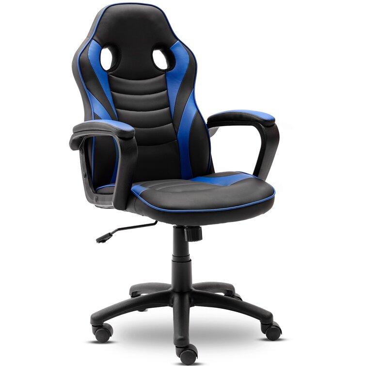 Inbox Zero Gaming Chair-Ergonomic Leather Recliner Racing Computer