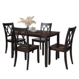 Alanie 5 - Piece Solid Wood Dining Set by Red Barrel Studio®