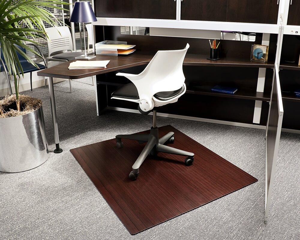 Default nameSymple Stuff Bamboo Rectangular Office Chair Mat   Reviews   Wayfair. Office Chair Mat For Wood Floor. Home Design Ideas
