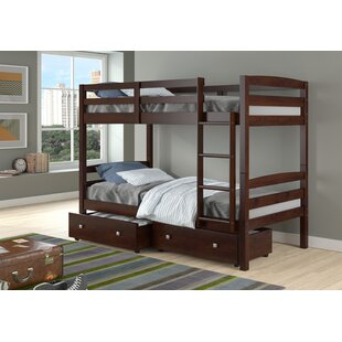 Avarielle Twin Over Twin Standard Bed with Drawer by Harriet Bee