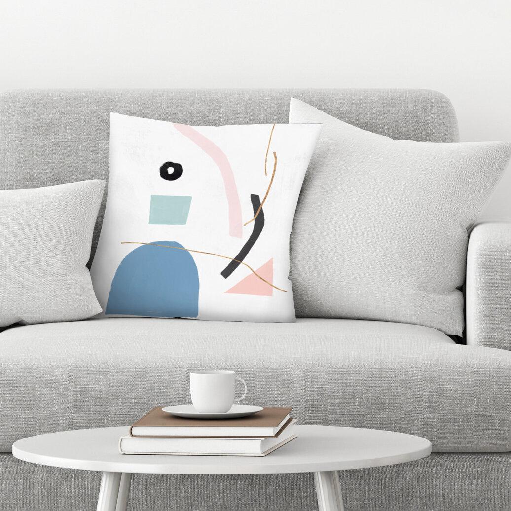 East Urban Home Precision Ii Blush Version Throw Pillow Wayfair