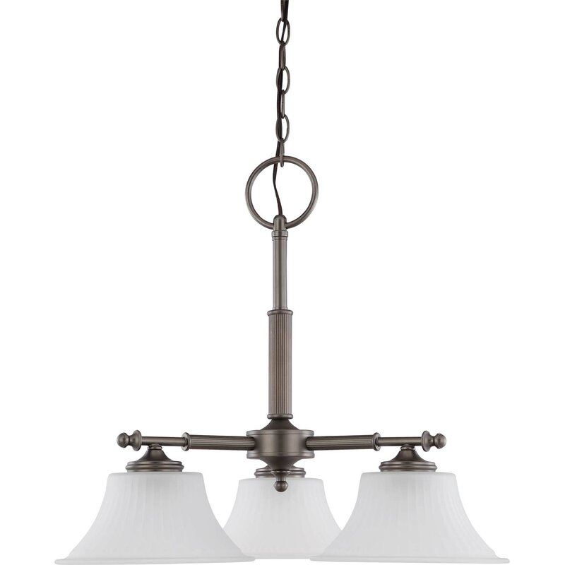 Charlton Home Hinde 3 Light Shaded Classic Traditional Chandelier Wayfair