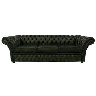 Granger Genuine Leather 4 Seater Chesterfield Sofa By Williston Forge