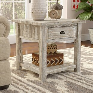Affordable Price Leonora End Table with Storage By Mistana