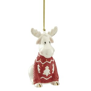 Animated Christmas Ornaments Ll Love Wayfair Sweater Moose Hanging Figurine