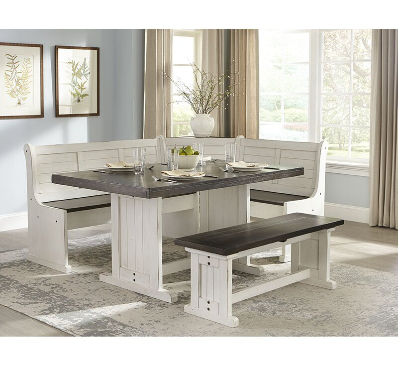 Nook Dining Room Sets: August Grove Villepinte 5 Piece Breakfast Nook Dining Set
