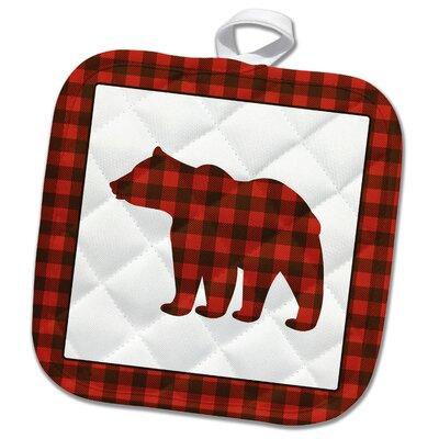 3dRose  Buffalo Plaid Bear Potholder