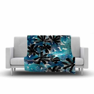 Affordable Ebi Emporium Snowy Stars 1 Painting Fleece Blanket By East Urban Home