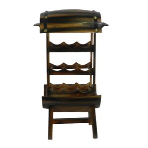 Two Tier 9 Bottle Floor Wine Rack by ESSENTIAL D?COR & BEYOND, INC