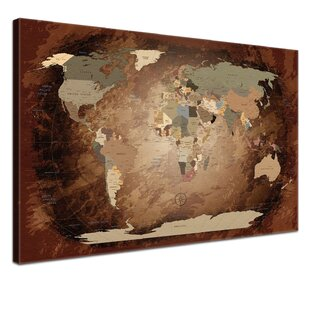 World map wayfair world map with cork back graphic art on canvas by lanakk gumiabroncs Gallery