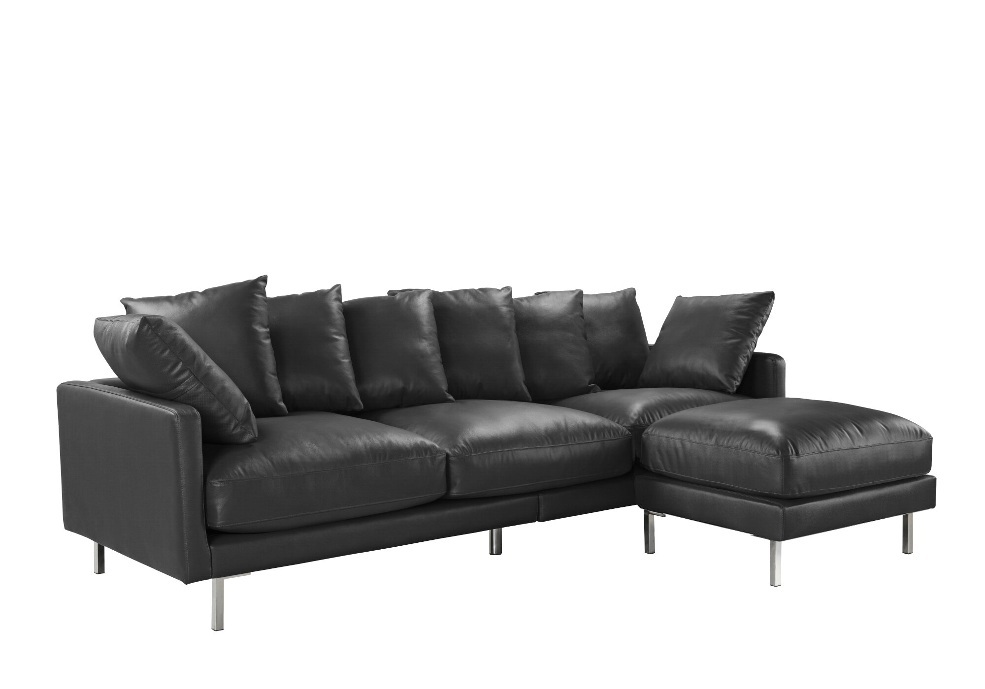Peachy Gaillarde Leather Reversible Modular Sectional With Ottoman Pdpeps Interior Chair Design Pdpepsorg