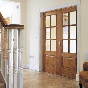 Royale 12-6VM Solid MDF Glazed Oak Slab Internal Door by JB Kind Doors