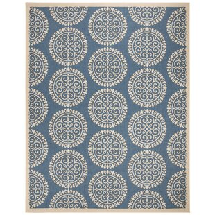Kirchner Looped/Hooked Blue Indoor/Outdoor Rug Image