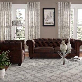 Harlem 2 Piece Leather Living Room Set by Trent Austin Design