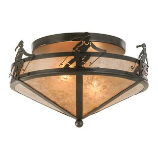 Meyda Tiffany Alpine 2-Light Semi Flush Mount