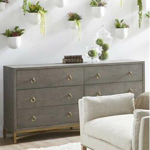 Gracie Oaks Ormside 6 Drawer Double Dresser