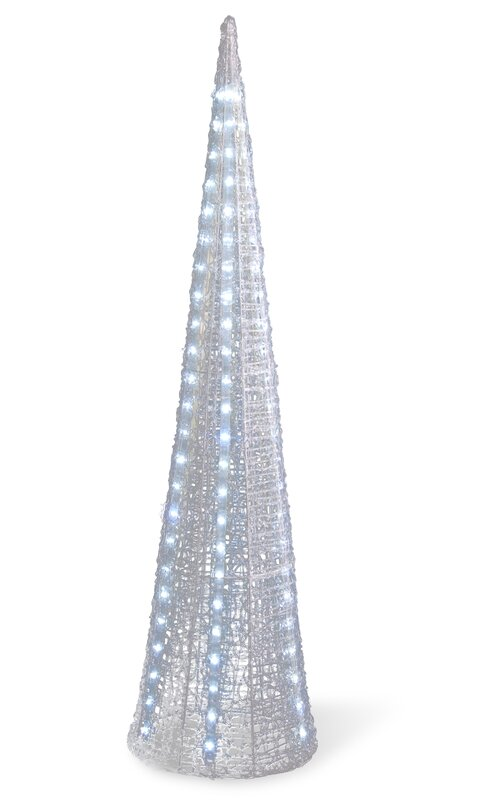 Ice Crystal Cone Tree With LED Light