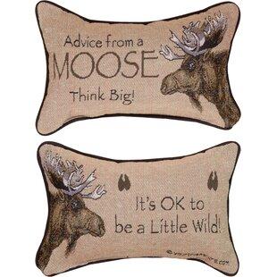 Advice from a Moose Word Lumbar Pillow