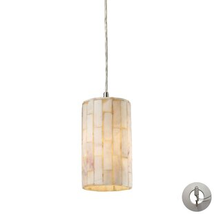 Bay Isle Home Terre 1-Light Cylinder Pendant