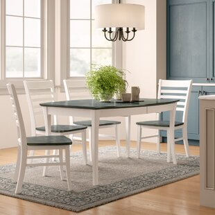 Niels 5 Piece Extendable Solid Wood Dining Set