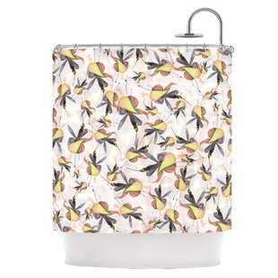 Fuchsia on the Wind Single Shower Curtain