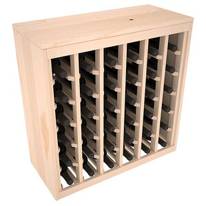 Karnes Pine Deluxe 36 Bottle Floor Wine Rack by Red Barrel Studio