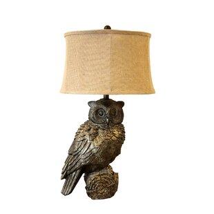 Landover Resin Owl 31 Table Lamp