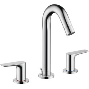Logis Widespread Faucet Double Handle with Drain Assembly