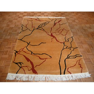 One-of-a-Kind Bettine Marble Tufenkian Hand-Knotted Tan Area Rug Isabelline