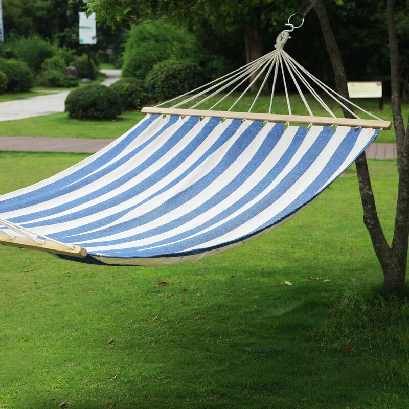 AdecoTrading Hanging Suspended Double Tree Hammock with Stand