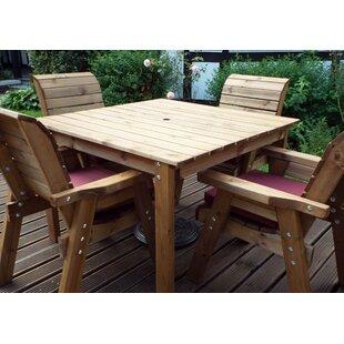 Farrar 4 Seater Dining Set With Cushions By Union Rustic