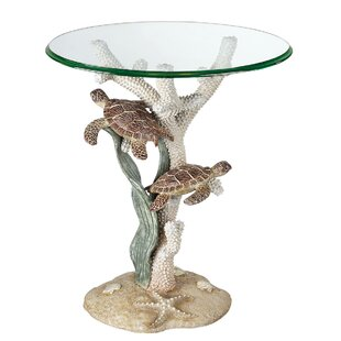 Nixon Sealife End Table by Highland Dunes