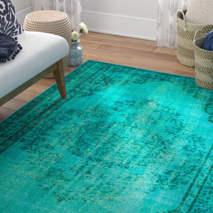 Alvah Turquoise Area Rug