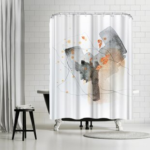 East Urban Home Christine Olmstead Piece Of Cheer 5 Shower Curtain