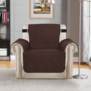 Upgraded Water Repellent Diamond Box Cushion Armchair Slipcover By Winston Porter