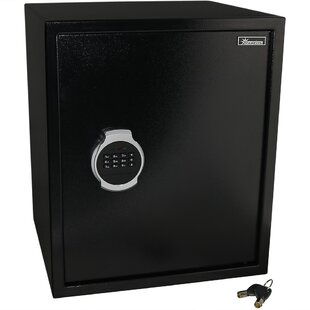 Symple Stuff Balhi Digital Home Security Safe with Electronic/Key Lock