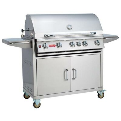 Brahma Cart 5-Burner Propane Gas Grill with Cabinet Bull Outdoor Fuel Type: Natural Gas