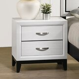 2 - Drawer Nightstand in White by Latitude Run®