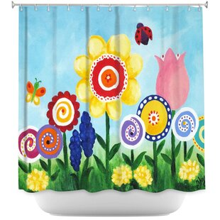 Flower Garden Single Shower Curtain