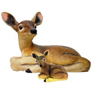 HomeStyles Call of the Wild Deer and Baby Fawn 2 Piece Statues