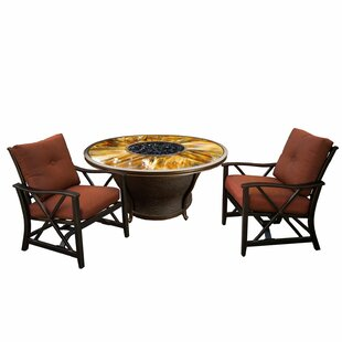 Darby Home Co Paxtonville 3 Piece Conversation Set with Cushions