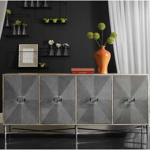 Melange Zola 4-Door Credenza Hooker Furniture