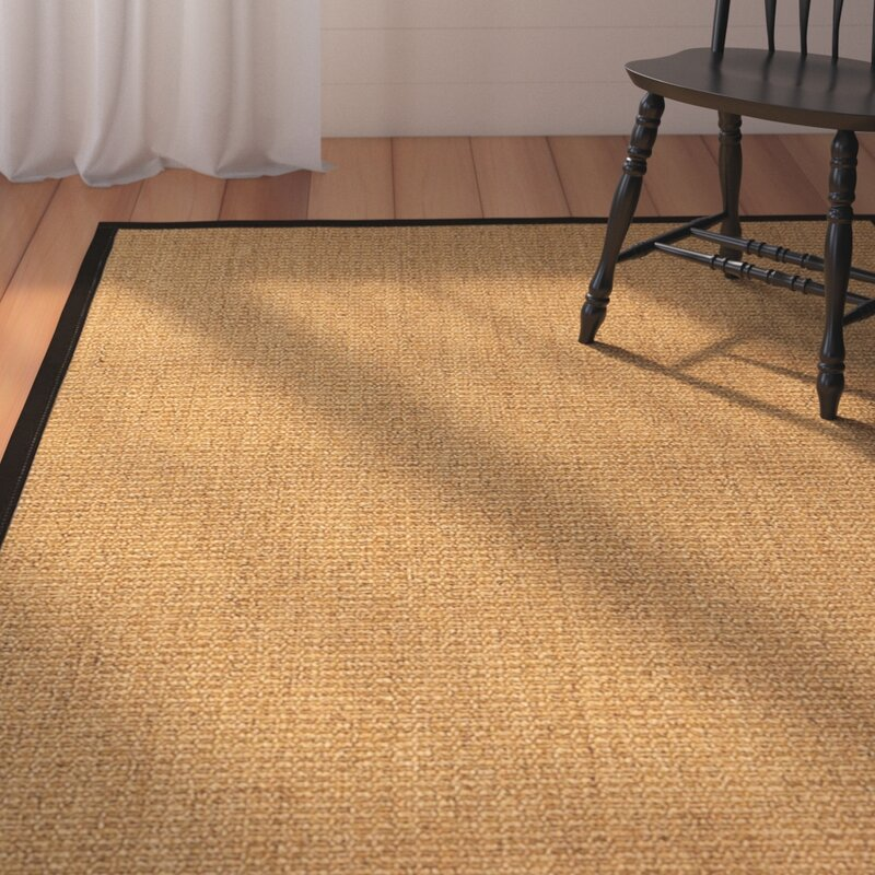 August Grove Belves Handwoven Beige Area Rug, Size: Rectangle 6 x 9