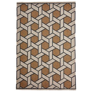 Enoch Basket Hand-Woven Camel/Light Gray Indoor/Outdoor Area Rug